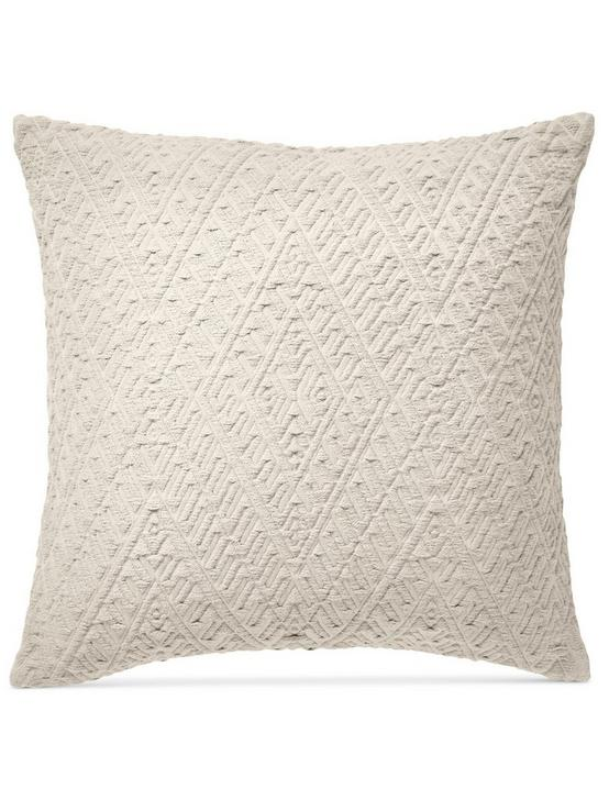 18X18 DIAMOND MATELASSE PILLOW, OPEN WHITE/NATURAL, productTileDesktop
