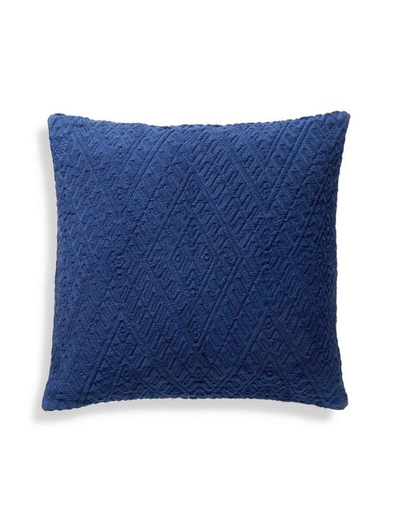 18X18 DIAMOND MATELASSE PILLOW, MEDIUM LIGHT BLUE, productTileDesktop