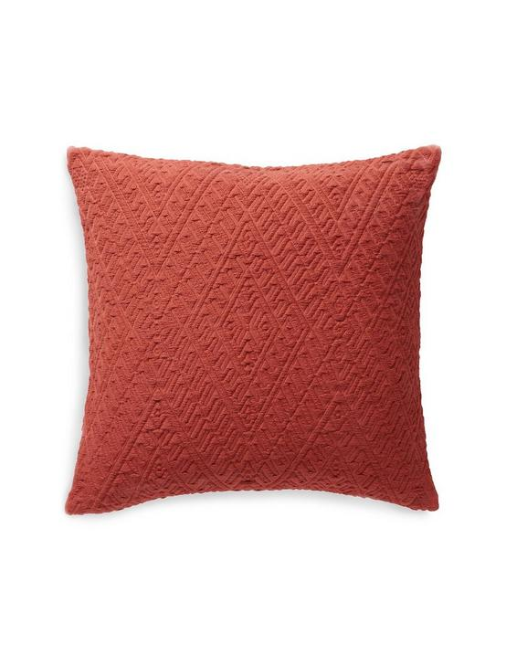 18X18 DIAMOND MATELASSE PILLOW, DARK ORANGE, productTileDesktop