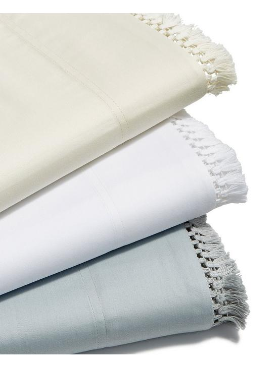 FRINGE WHITE FULL SHEET SET, NATURAL, productTileDesktop