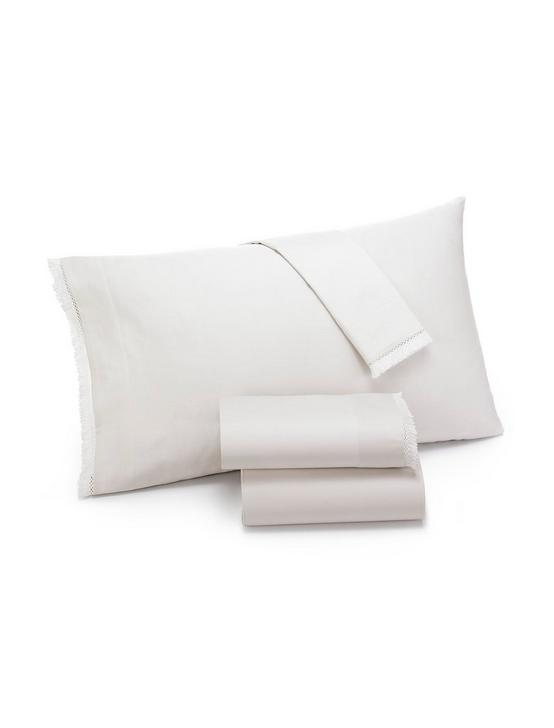 FRINGE WHITE STANDARD PILLOWCASE SET, NATURAL, productTileDesktop