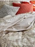 LEILA KING PILLOWCASE SET, MEDIUM LIGHT BEIGE