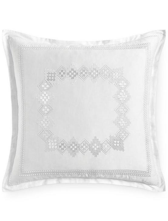 STITCHED DIAMOND EURO SHAM, BUFF, productTileDesktop