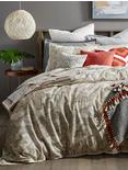 LEILA TWIN COMFORTER SET, MEDIUM LIGHT BEIGE