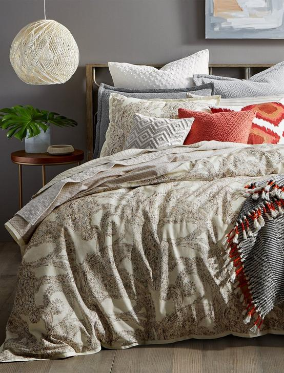 LEILA TWIN COMFORTER SET, MEDIUM LIGHT BEIGE, productTileDesktop
