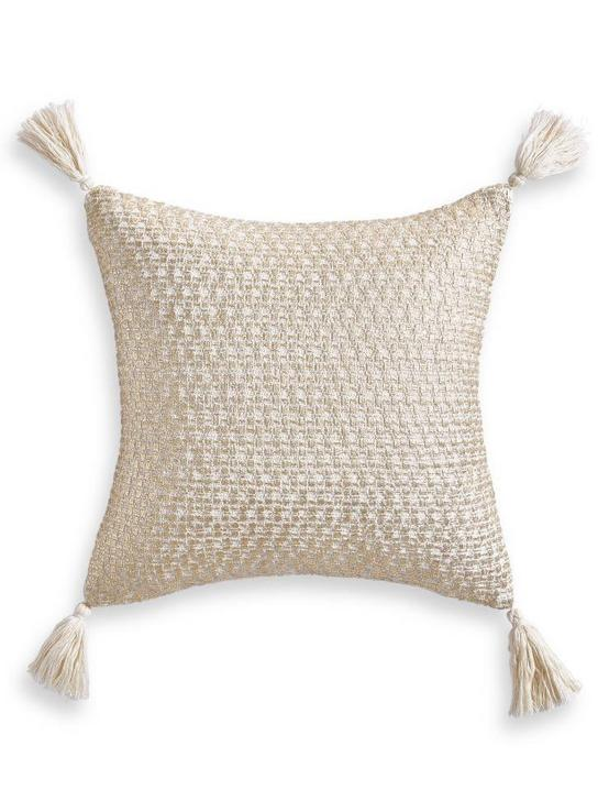 GOLD METALLIC DECORATIVE PILLOW