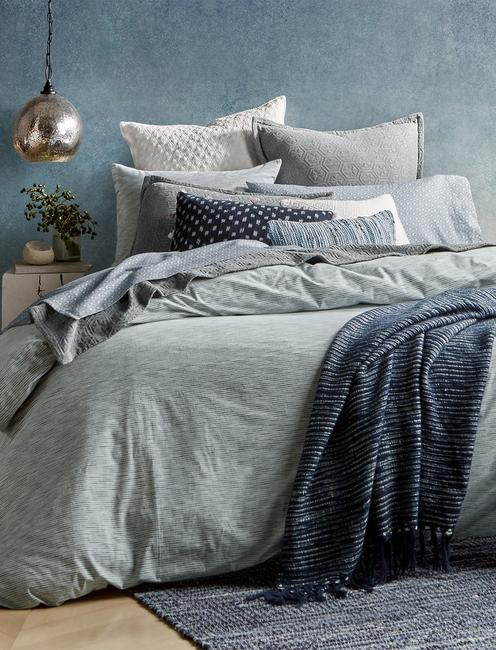 SANTE FE STRIPE FULL/QUEEN COMFORTER SET,