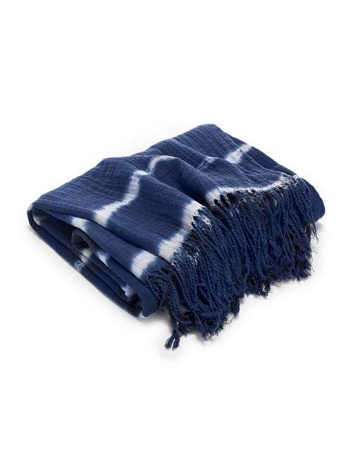 SHIBORI THROW, RINSE