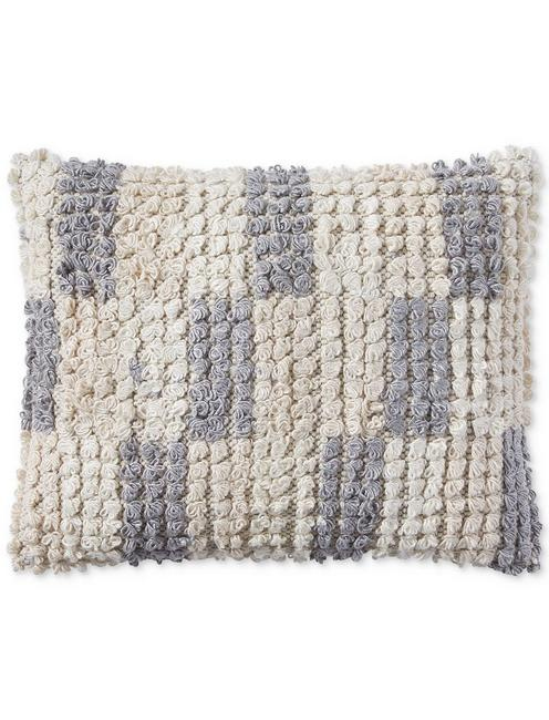 16X20 TUFTED CHECK DECORATIVE PILLOW,