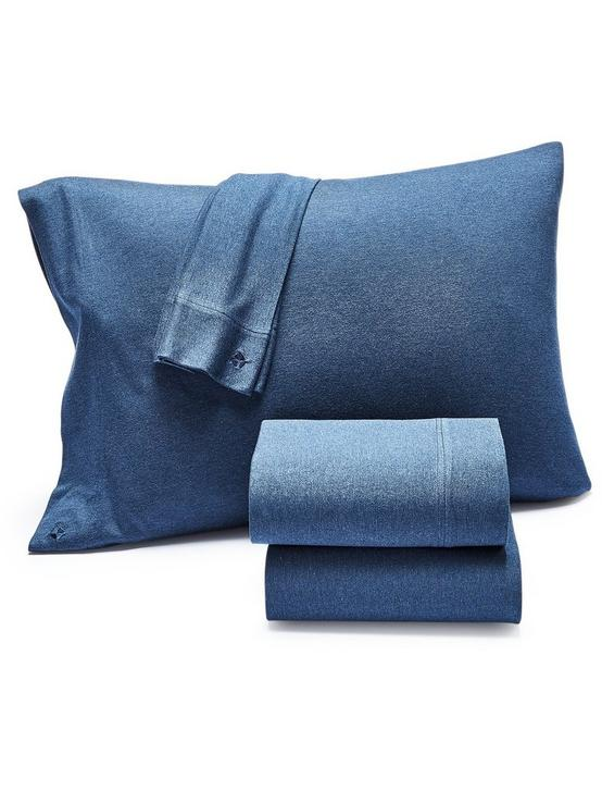 SMOKE JERSEY SHEET SET, DARK BLUE, productTileDesktop