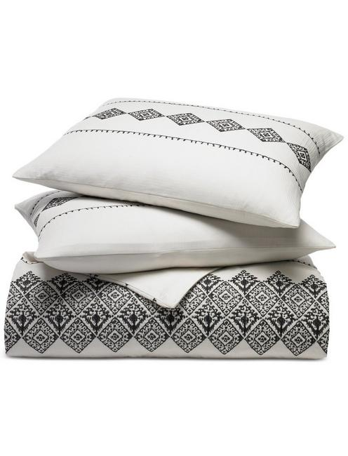 Lucky Embroidered Ikat Comforter  Set