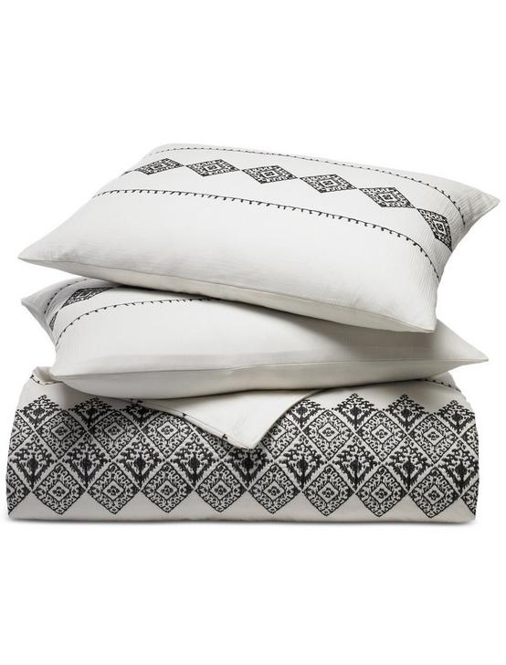 Embroidered Ikat Comforter  Set