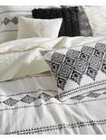 EMBROIDERED IKAT COMFORTER  SET, BUFF