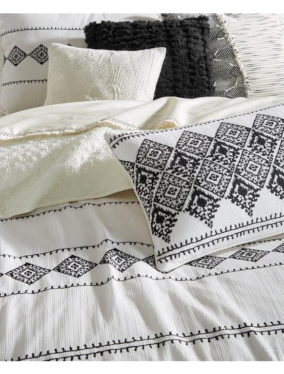 EMBROIDERED IKAT COMFORTER  SET, BUFF, productTileDesktop