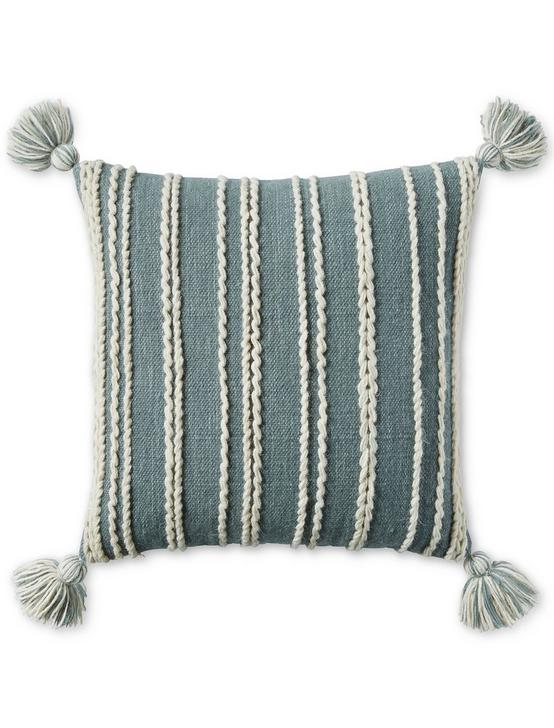 22X22 STRIPE DECORATIVE PILLOW, RINSE, productTileDesktop
