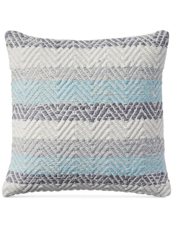 18X18 JERSEY CHEVRON DECORATIVE PILLOW, DARK GREY, productTileDesktop