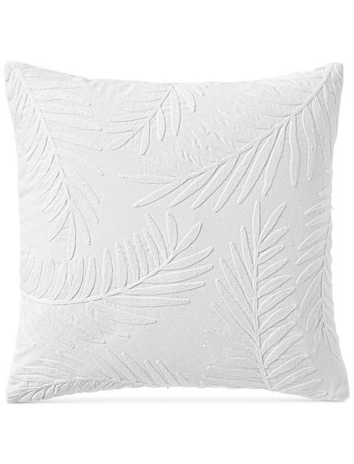 18X18 PALM DECORATIVE PILLOW, NATURAL