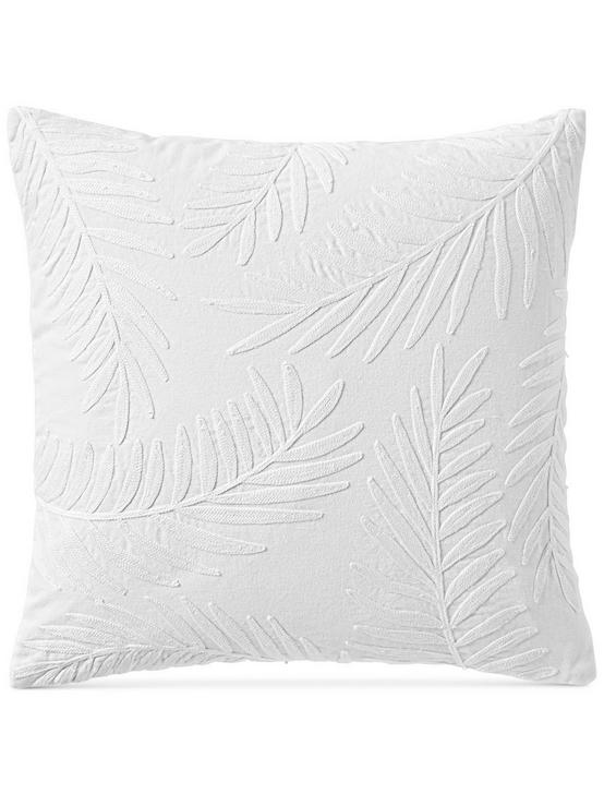 18X18 PALM DECORATIVE PILLOW, NATURAL, productTileDesktop