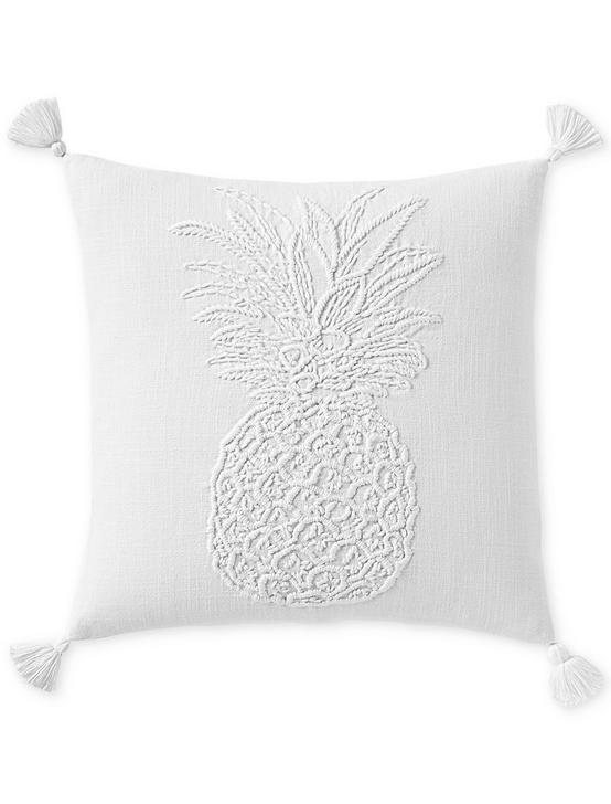 18X18 PINEAPPLE DECORATIVE PILLOW, NATURAL, productTileDesktop