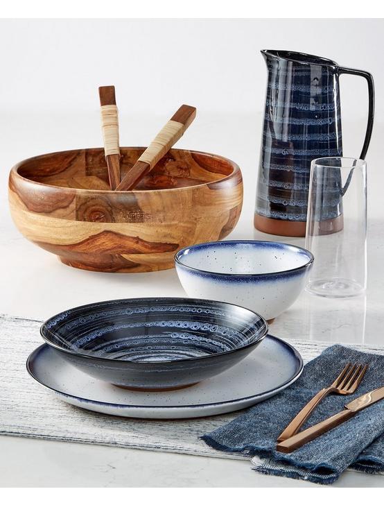BLUE EDGE DINNER BOWL, WHITE W/ BLUE EDGE, productTileDesktop