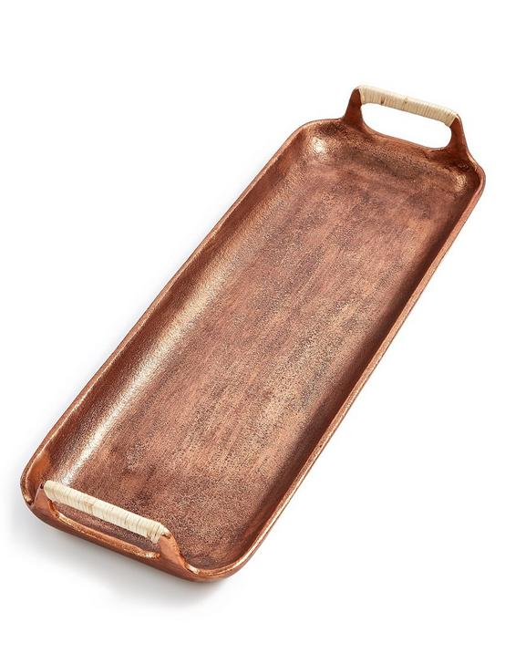 SMALL COPPER SERVING TRAY, COPPER, productTileDesktop