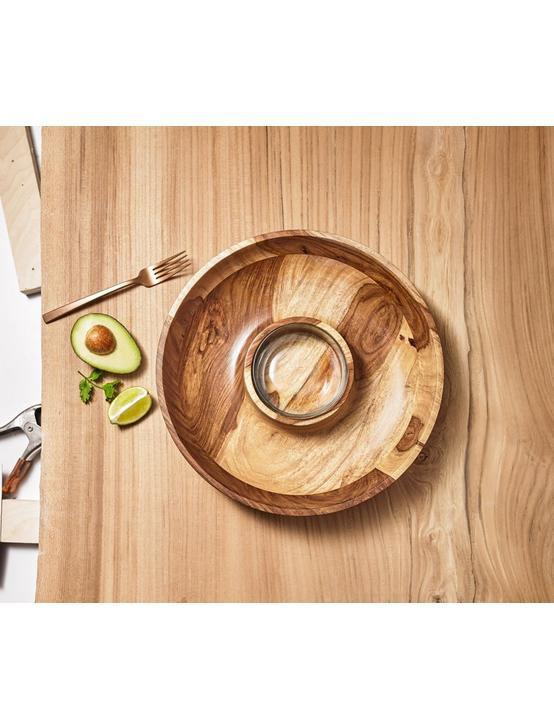 WOODEN CHIP AND DIP BOWL, NATURAL WOOD, productTileDesktop