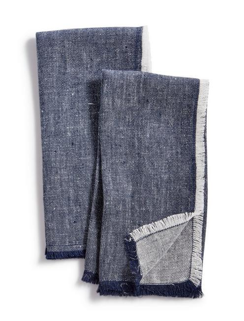 Lucky Denim Set Of 2 Napkins