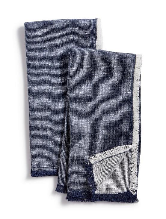 DENIM SET OF 2 NAPKINS, BLUE, productTileDesktop