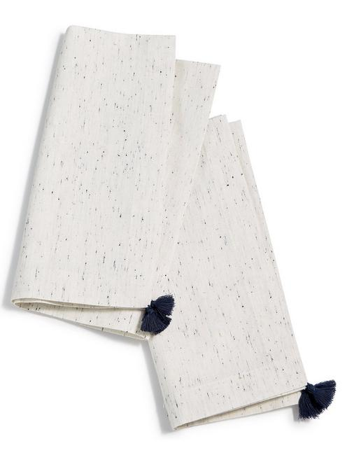 Lucky Ivory Tassel  Set Of 2 Napkins