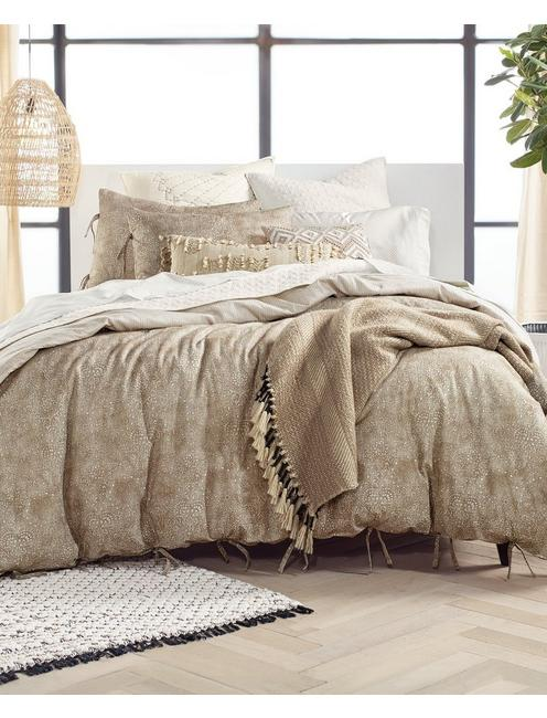 KASHMIR COMFORTER SET, DARK BROWN