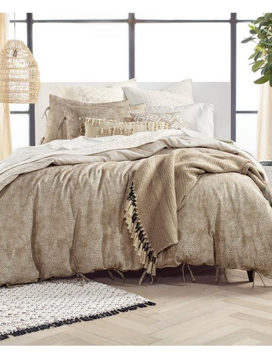 KASHMIR COMFORTER SET, DARK BROWN, productTileDesktop