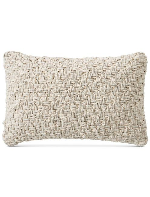 Lucky 16x24 Basket Embroidered Decorative Pillow