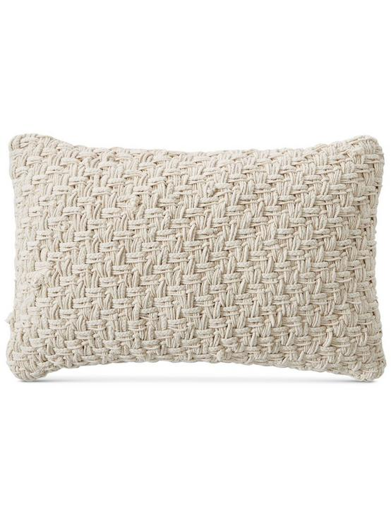 16X24 BASKET EMBROIDERED DECORATIVE PILLOW
