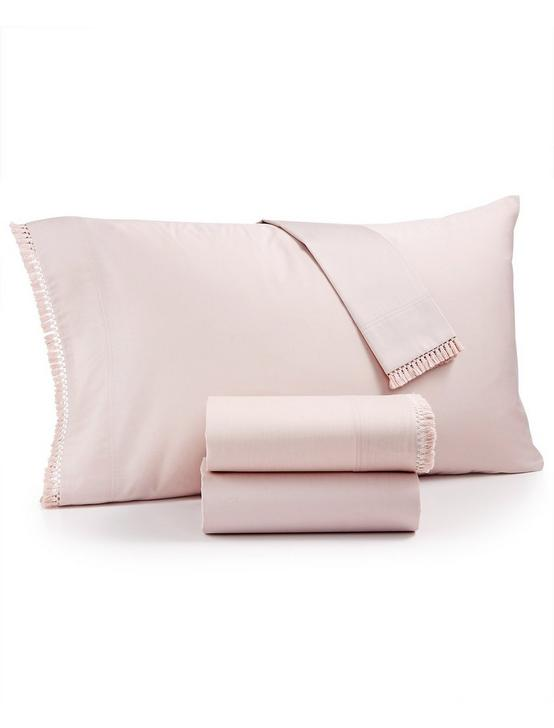 FRINGE BLUSH PILLOW CASE, DARK PINK, productTileDesktop