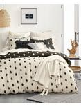 IKAT DOT COMFORTER SET, BLACK
