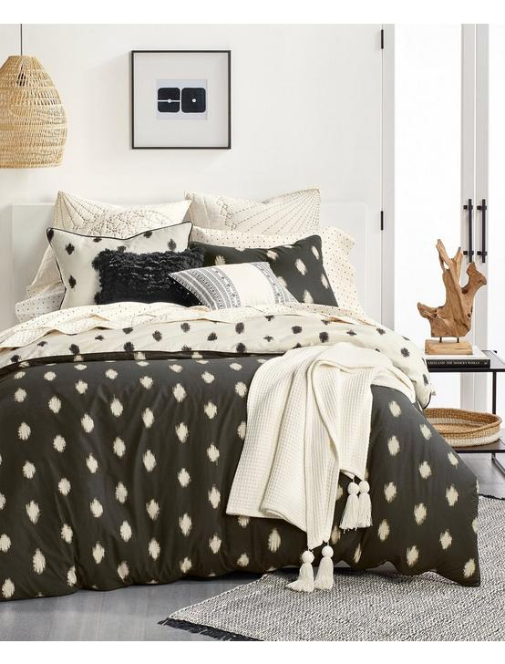 IKAT DOT COMFORTER SET, BLACK, productTileDesktop
