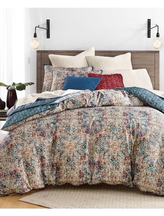 ALMA COMFORTER SET, BLUE MULTI, productTileDesktop