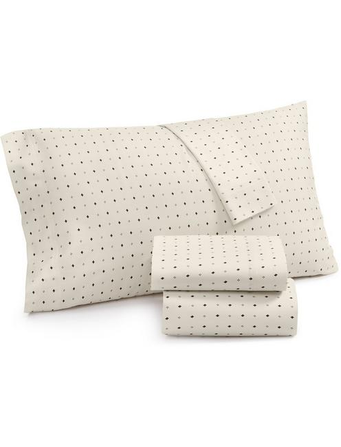 IKAT DOT PILLOW CASE SET, NATURAL
