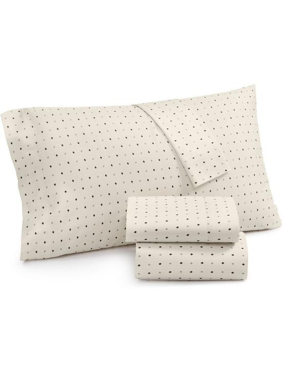 IKAT DOT PILLOW CASE SET, NATURAL, productTileDesktop