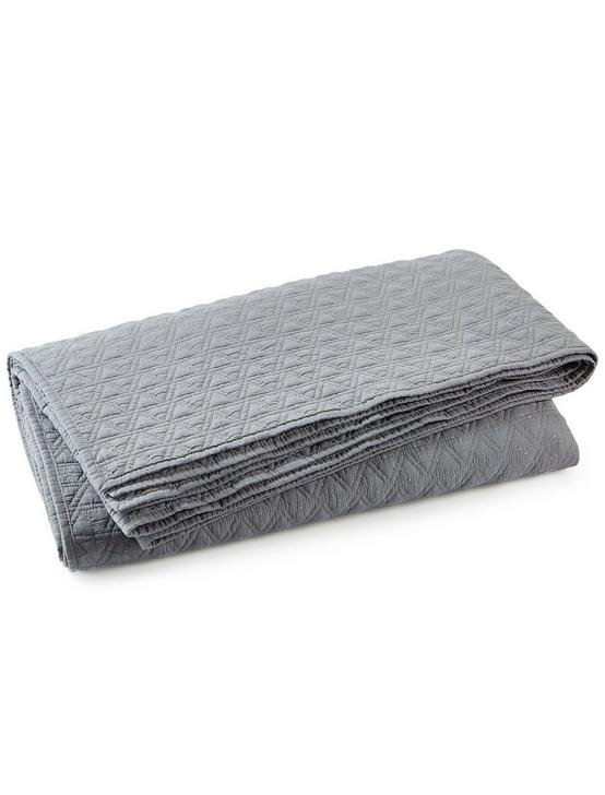 VINTAGE WASH COVERLET, DARK GREY, productTileDesktop