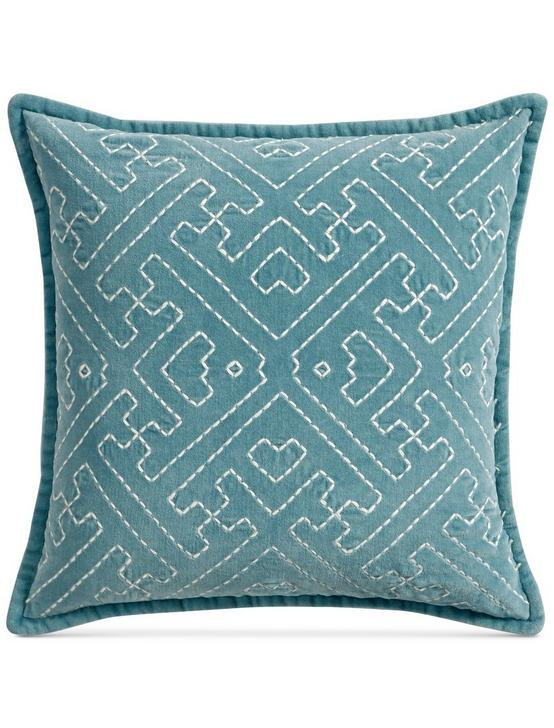 18X18 SASHIKO DECORATIVE PILLOW, RINSE, productTileDesktop