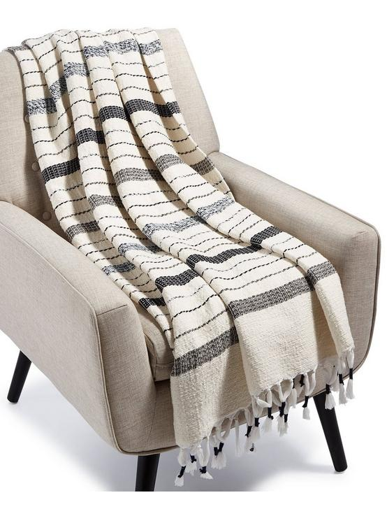 MINGLED YARN DYE THROW, NATURAL, productTileDesktop