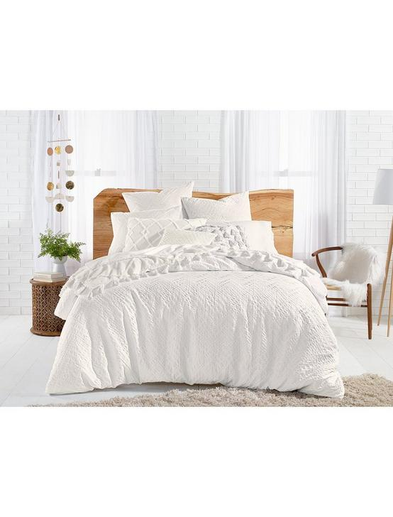 TAOS MATELASSE DUVET SET, NATURAL, productTileDesktop