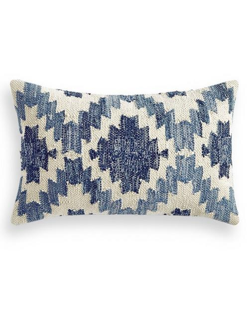 DENIM DECORATIVE 16X26 PILLOW, RINSE
