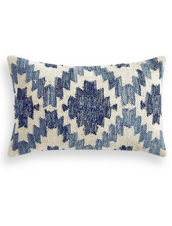 DENIM DECORATIVE 16X26 PILLOW, RINSE, productTileDesktop