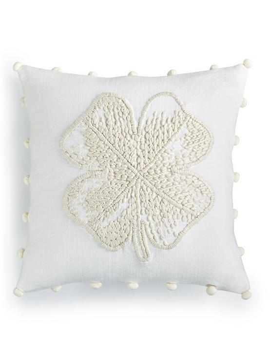 CLOVER DECORATIVE 18X18 PILLOW, NATURAL, productTileDesktop