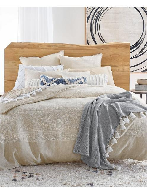 BALI BATIK COMFORTER SET, MEDIUM BEIGE