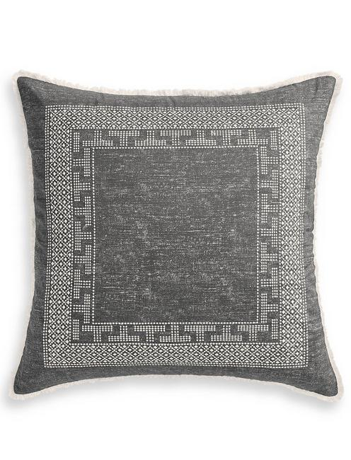 BALI BATIK EURO PILLOW SHAM, DARK GREY