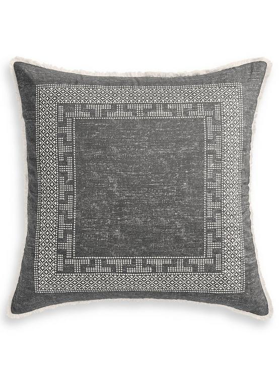 BALI BATIK EURO PILLOW SHAM, DARK GREY, productTileDesktop