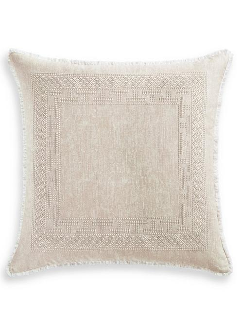 BALI BATIK EURO PILLOW SHAM, MEDIUM BEIGE